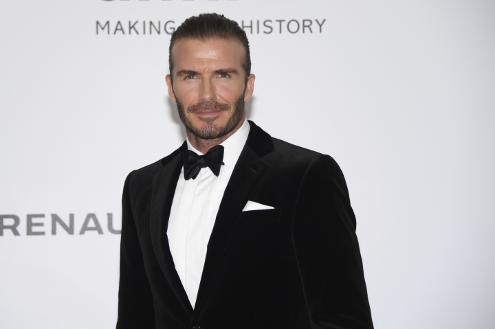Former soccer player David Beckham poses for photographers upon arrival at the amfAR charity gala during the Cannes 70th international film festival, Cap d'Antibes, southern France, Thursday, May 25, 2017. (Photo by Arthur Mola/Invision/AP)