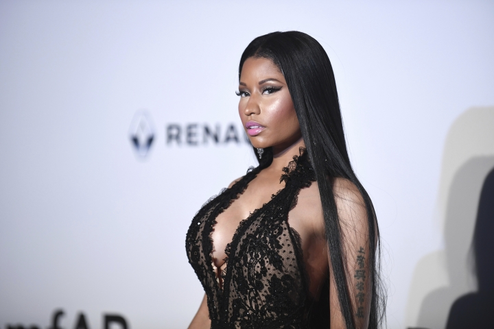 Singer Nicki Minaj poses for photographers upon arrival at the amfAR charity gala during the Cannes 70th international film festival, Cap d'Antibes, southern France, Thursday, May 25, 2017. (Photo by Arthur Mola/Invision/AP)