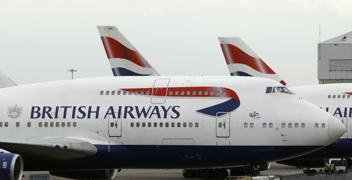 "FILE - In this Tuesday, Jan. 10, 2017 file photo, British Airways planes are parked at Heathrow Airport during a 48hr cabin crew strike in London. Air travelers faced delays Saturday, May 27, 2017 because of a worldwide computer systems failure at British Airways, the airline said. BA apologized in a statement for what it called an ""IT systems outage"" and said it was working to resolve the problem. It said in a tweet that Saturday's problem is global.(AP Photo/Frank Augstein, file)"