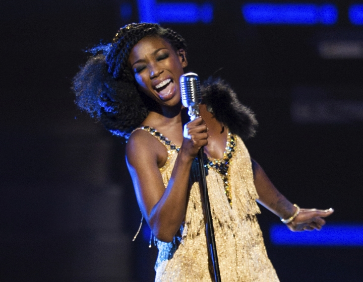 FILE - In this April 1, 2016 file photo, singer Brandy Norwood performs at 2016 Black Girls Rock! at the New Jersey Performing Arts Center in Newark, N.J. The singer has been released from the hospital and is resting after passing out at a Los Angeles airport. Her publicist said in a statement to The Associated Press on Friday, June 2, 2017, that Brandy's rigorous schedule, including concert dates and recording new music, had taken a toll on the singer. (Photo by Michael Zorn/Invision/AP, File)