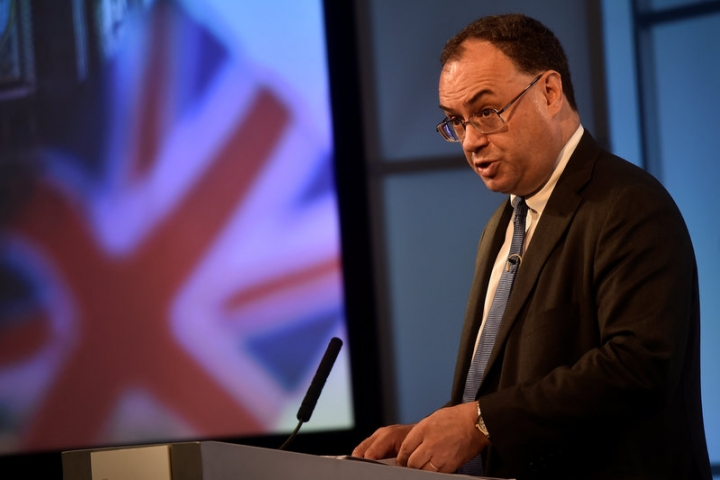 """Andrew Bailey, Chief Executive Officer of the Financial Conduct Authority, speaks during a """"Reuters Newsmaker"""" interview at the Reuters offices in London, Britain, July 6, 2017.  REUTERS/Hannah McKay"""