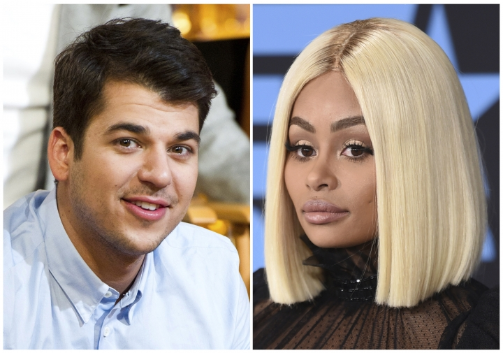 In this combination photo, TV personality Rob Kardashian, left, appears in New York on Nov. 23, 2011 and his former fiancee Blac Chyna appears at the BET Awards in Los Angeles on June 25, 2017. Kardashian was trending last week after attacking his former fiancée on Instagram in a flurry of posts so explicit his account was shut down. (Photos by Charles Sykes, left, and Richard Shotwell/Invision/AP, File)