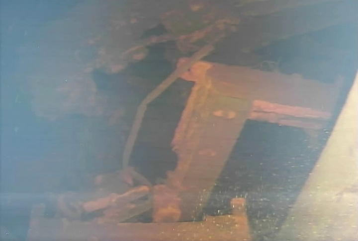 This image captured by an underwater robot provided by International Research Institute for Nuclear Decommissioning shows a damaged platform inside of Unit 3 primary containment chamber at Fukushima Dai-ichi nuclear plant in Okuma town, northeastern Japan Wednesday, July 19, 2017. The underwater robot has captured images and other data inside Japan's crippled nuclear plant on its first day of work. The robot is on a mission to study damage and find fuel that experts say has melted and mostly fallen to the bottom of a chamber and has been submerged by highly radioactive water. (International Research Institute for Nuclear Decommissioning via AP)
