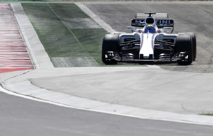 Williams driver Felipe Massa of Brazil drives off the track during the third free practice session for the Hungarian Formula One Grand Prix, at the Hungaroring racetrack in Mogyorod, northeast of Budapest, Saturday, July 29, 2017. The Hungarian Grand Prix will be held on Sunday, July 30. (AP Photo/Darko Bandic)