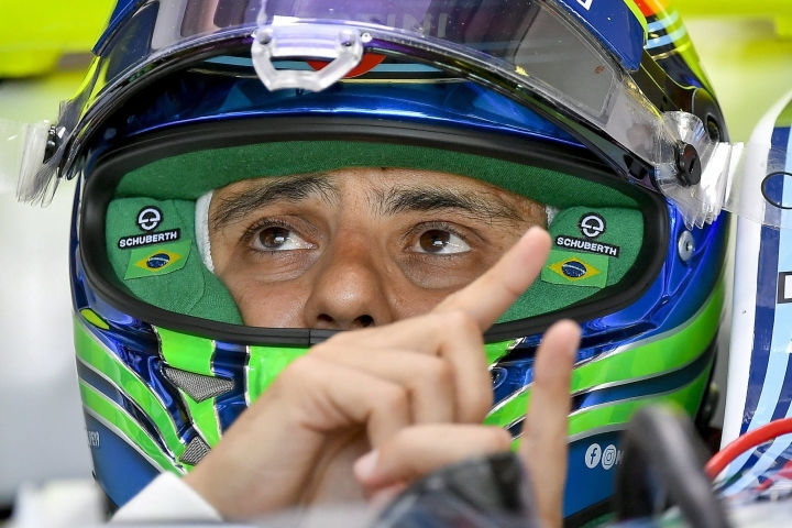 Brazilian Formula One driver Felipe Massa of Team Williams makes a pit stopduring the first practice session at the Hungaroring racetrack in Mogyorod, northeast of Budapest, Hungary, Friday July 28, 2017. The Hungarian Formula One Grand Prix will be held on Sunday July, 30. (Zsolt Czegledi/MTI via AP)