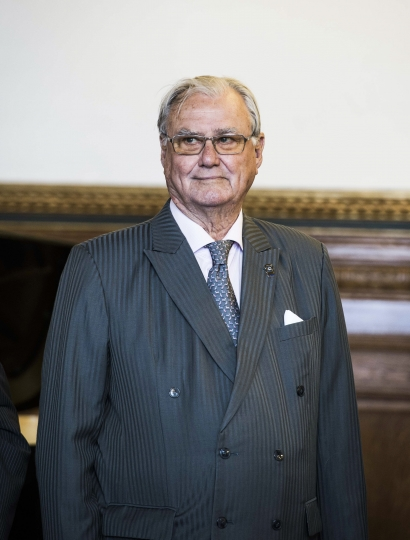 FILE - In this file photo dated June 7, 2017, Denmark's Prince Henrik poses for a photo in Copenhagen. Prince Henrik announced Thursday Aug. 3, 2017, he won't be buried next to Margrethe in the specially designed sarcophagus made for them in Roskilde cathedral where Danish royals have been buried since 1559, without giving any reason for his decision. (Stine Tidsvilde/ritzau FILE via AP)