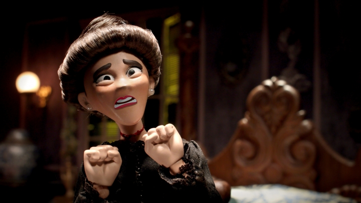 """This image released by Crackle shows a scene from """"SuperMansion: Drag Me to Halloween,"""" a holiday special streaming on Crackle starting Oct. 5. (Crackle via AP)"""