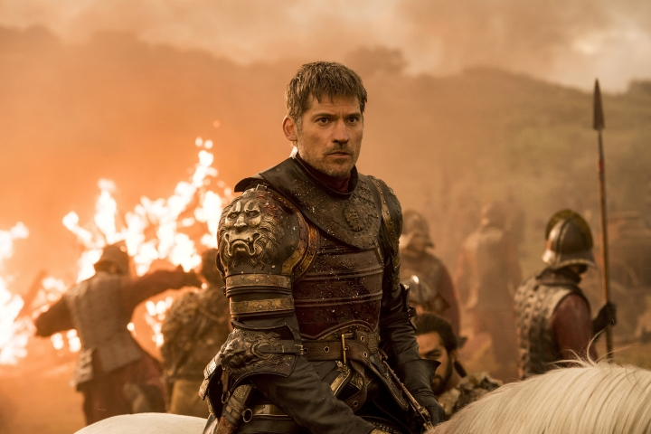 """CORRECTS AIR DATE TO AUG 6 AND CLARIFIES THAT A GROUP OF HACKERS AND NOT AN INDIVIDUAL IS INVOLVED - This image released by HBO shows Nikolaj Coster-Waldau as Jaime Lannister in an episode of """"Game of Thrones,"""" which aired Sunday, Aug. 6. A group of hackers posted a fresh cache of stolen HBO files, including some apparently related to the show """"Game of Thrones,"""" online Monday, part of what the purported hacker has claimed is a much larger trove of stolen HBO material. The dump includes scripts from five """"Game of Thrones"""" episodes, including one upcoming episode, and a month's worth of email from the account of an HBO programming executive. (Macall B. Polay/HBO via AP)"""