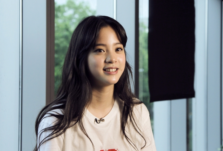 """In this photo taken on Friday, Aug. 4, 2017, Taiwanese actress Ou-yang Nana poses during an interview with The Associated Press in Taipei, Taiwan. Nana may be the new 'it girl,' with a starring role in the next Jackie Chan movie, but she's returning to her roots and first love: cello. The 17-year-old actress just released her second cello album, """"Cello Loves Disney,"""" where she plays all the classic hits from her favorite fairy tales. (AP Photo/Chiang Ying-ying)"""