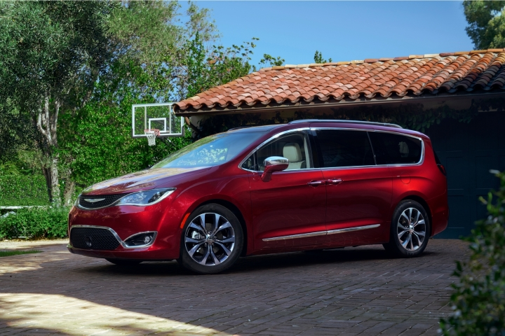 This photo provided by Fiat Chrysler shows the 2017 Chrysler Pacifica, an example of a vehicle that has features parents will love. One feature in particular is the built-in vacuum cleaner that makes cleaning up the interior a snap no matter where the mess is left. (Webb Bland/Courtesy of Fiat Chrysler Automobiles North America LLC via AP)