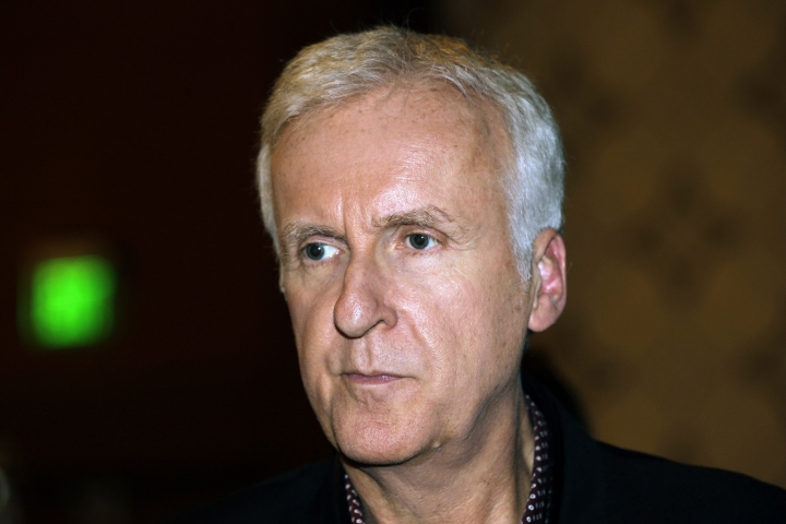 "FILE - In this Sept 15, 2015 file photo, Oscar-winning director James Cameron attends the U.S. China Climate Leaders Summit in Los Angeles. Cameron has taken time out from crafting the upcoming four ""Avatar"" sequels to return to one of his old films, one he says is as up-to-the-minute as ever ""Terminator 2: Judgment Day."" Cameron converted the 26-year-old film into a 3D format that hits movie theaters Aug. 25, 2017. It arrives just as escalating tensions over North Korea's nuclear ambitions are in the headlines.(AP Photo/Nick Ut)"