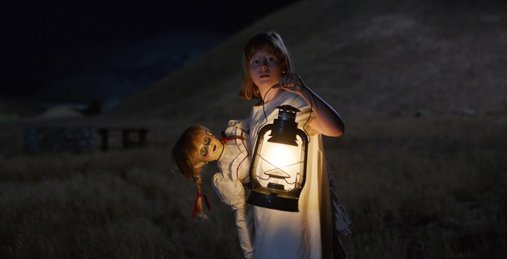 "This image released by Warner Bros Pictures shows Lulu Wilson in ""Annabelle: Creation."" (Warner Brothers Pictures via AP)"