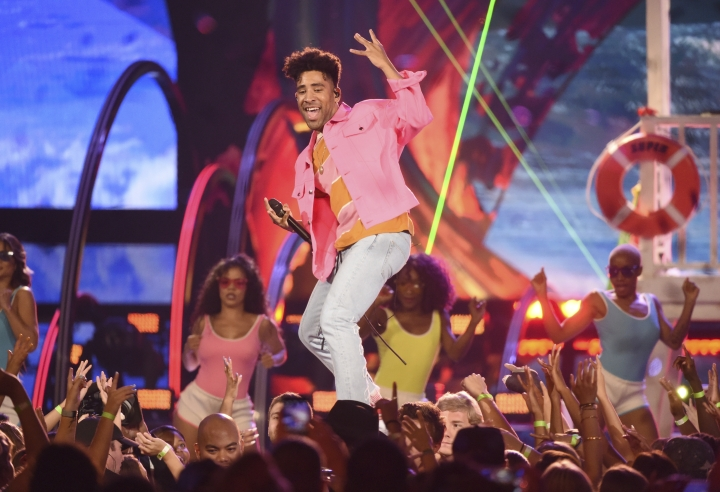 Lil Yachty performs at the Teen Choice Awards at the Galen Center on Sunday, Aug. 13, 2017, in Los Angeles. (Photo by Phil McCarten/Invision/AP)