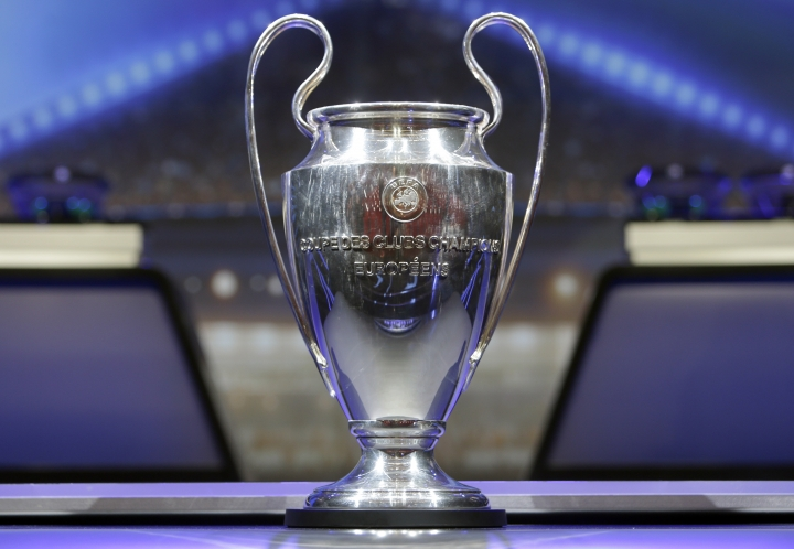 The trophy of UEFA Champions League is put on display before the UEFA Champions League draw at the Grimaldi Forum, in Monaco, Thursday, Aug. 24, 2017. (AP Photo/Claude Paris)
