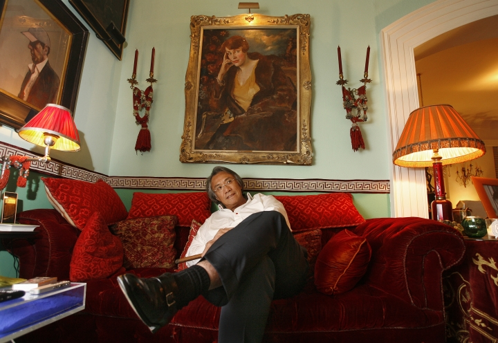 In this March 20, 2007, file photo, Hong Kong businessman David Tang pauses during an interview at his home in Hong Kong. Tang, a flamboyant and outspoken socialite and entrepreneur who founded the Shanghai Tang fashion brand, has died. He was 63. (AP Photo/Vincent Yu)