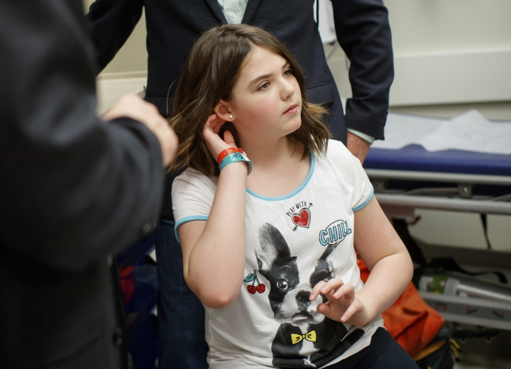 This photo provided by the Children's Hospital of Philadelphia, taken in May 2017, shows Emily Whitehead five years after she became the first pediatric patient in the world to receive an experimental therapy at the hospital that has put her leukemia into long-term remission. Opening a new era in cancer care, the Food and Drug Administration (FDA) approved the first treatment that genetically engineers patients' own blood cells into an army of assassins to seek and destroy childhood leukemia. (Children's Hospital of Philadelphia via AP)