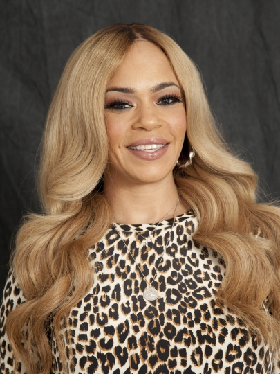 """In this Thursday, Aug. 17, 2017, photo, Faith Evans, widow of Notorious B.I.G., poses for a portrait in New York. """"People really genuinely loved B.I.G., you know. Outside of the fact that he was just such an incredible artist and just a genius to be able to do, you know, what he did, he was just a great person,"""" Evans said. (Photo by Andy Kropa/Invision/AP)"""