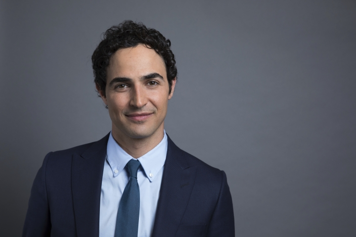 "This July 31, 2017 photo shows Zac Posen posing for a photo to promote his new documentary, ""House of Z"" in New York. (Photo by Amy Sussman/Invision/AP)"