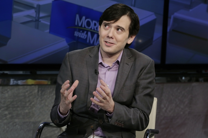 "FILE - In this Aug. 15, 2017, file photo, former pharmaceutical CEO Martin Shkreli speaks during an interview by Maria Bartiromo during her ""Mornings with Maria Bartiromo"" program on the Fox Business Network, in New York. On Sept. 6, 2017, Shkreli put the only known copy of a Wu-Tang Clan album he bought for $2 million in 2015 up for sale on eBay. (AP Photo/Richard Drew, File)"