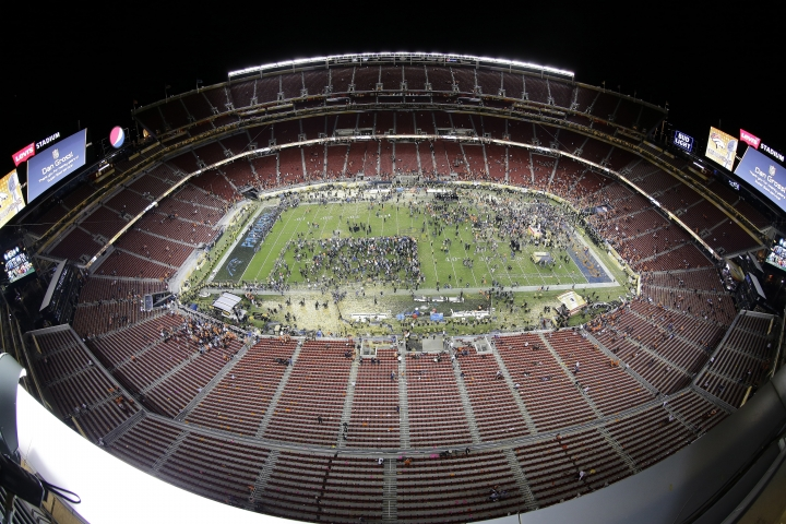 FILE - This is a Feb. 7, 2016, file photo showing Levi's Stadium in Santa Clara, Calif., after the NFL Super Bowl 50 football game, in Santa Clara, Calif. Forty-one cities in the United States, Mexico and Canada have submitted preliminary bids to host 2026 World Cup matches. The North American bid committee said Thursday, Sept. 7, 2017, its proposal will be sent to FIFA in March. The bid is expected to include up to 25 cities. At least 12 cities would ultimately be selected if the FIFA Congress picks the joint bid when it votes in June 2018. (AP Photo/Morry Gash, File)