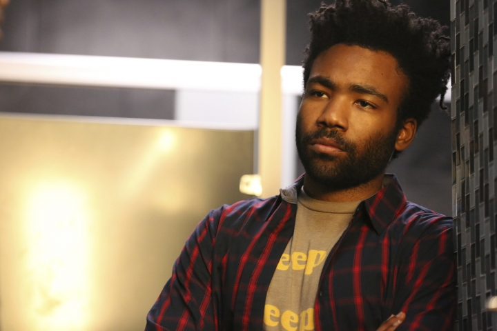 """In this image released by FX, Donald Glover portrays Earnest Marks in the comedy """"Atlanta."""" Glover is nominated for an Emmy Award for outstanding lead actor in a comedy series. The Emmy Awards ceremony, will air on Sept. 17. (Quantrell D. Colbert/FX via AP)"""