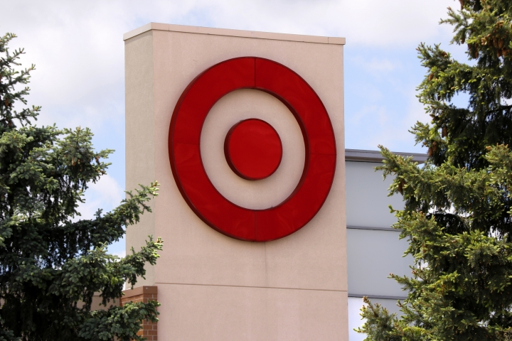 FILE - This May 3, 2017, file photo shows the logo on a Target store in Upper Saint Clair, Pa. Target said it plans to hire about 100,000 workers for the 2017 holiday season, up from the 70,000 it hired a year ago. (AP Photo/Gene J. Puskar, File)