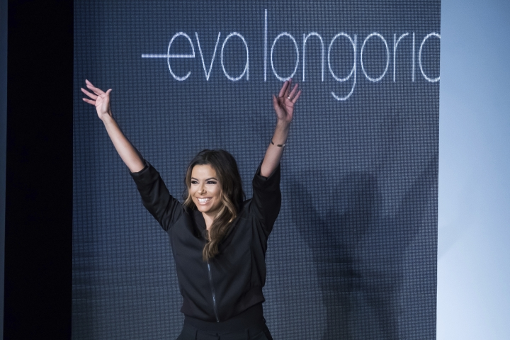 Eva Longoria walks the runway following her Eva Longoria fashion show as part of NYFW Spring/Summer 2018 on Wednesday, Sept. 13, 2017 in New York. (Photo by Charles Sykes/Invision/AP)