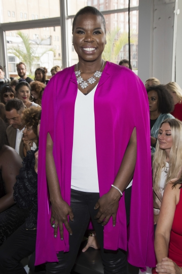 Leslie Jones attends the Christian Siriano fashion show as part of NYFW Spring/Summer 2018 on Saturday, Sept. 9, 2017, in New York. (Photo by Charles Sykes/Invision/AP)