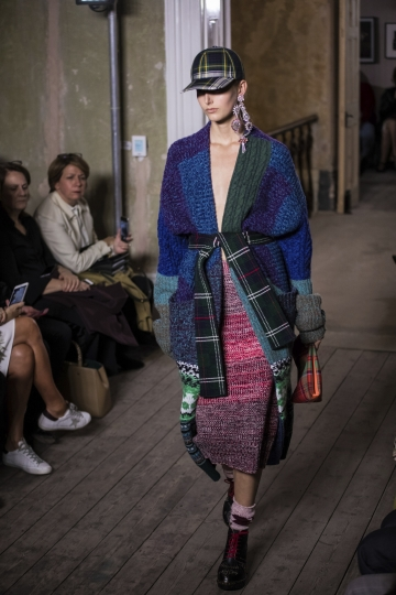 A model wears a creation by fashion house Burberry, during their Spring/Summer 2018 runway show at London Fashion Week in London, Saturday, Sept. 16, 2017. (Photo by Vianney Le Caer/Invision/AP)