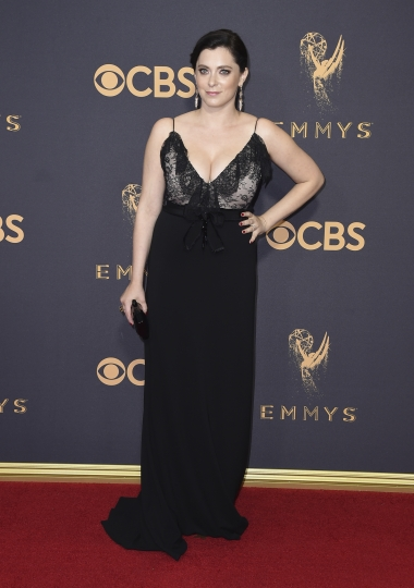 Rachel Bloom arrives at the 69th Primetime Emmy Awards on Sunday, Sept. 17, 2017, at the Microsoft Theater in Los Angeles. (Photo by Jordan Strauss/Invision/AP)