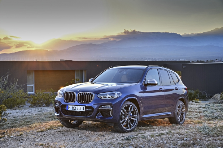 This photo provided by BMW shows the 2018 BMW X3 that was shown at the 2017 Frankfurt auto show. One of BMW's most popular models, the compact X3 SUV offers both four- and six-cylinder engines along with a long list of optional features. (Courtesy of BMW AG via AP)