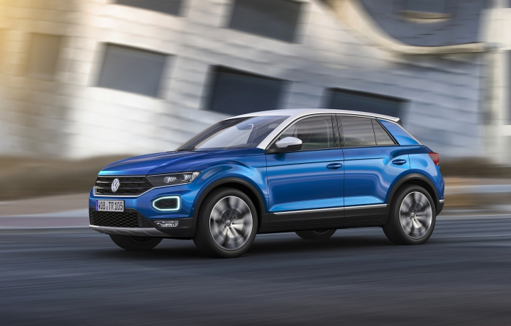 This photo provided by Volkswagen shows the 2018 Volkswagen T-Roc unveiled at the 2017 Frankfurt auto show. The T-Roc is a size smaller than Volkswagen's Tiguan SUV that's currently sold in the U.S. (Courtesy of Volkswagen AG via AP)