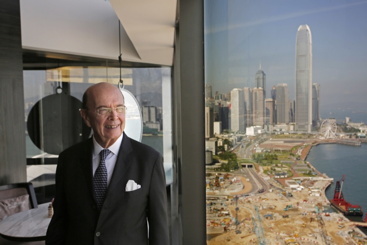 "U.S. Commerce Secretary Wilbur Ross poses before a press conference in Hong Kong, Wednesday, Sept. 27, 2017. Ross said Wednesday that the Trump administration's priorities as it prepares to tackle bigger and ""more difficult"" trade issues with China are better market access, less protectionism and protecting intellectual property rights. (AP Photo/Vincent Yu)"