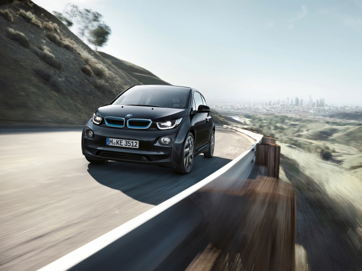This photo provided by BMW shows the 2017 BMW i3, a small luxury hatchback with rear-hinged secondary doors to provide easy access to the back seat. It's a bit more expensive than rivals, but its strong, lightweight construction and a cabin decorated with exotic and sustainable materials justify its high price tag. (c quadrat photography/Courtesy of BMW of North America LLC via AP)