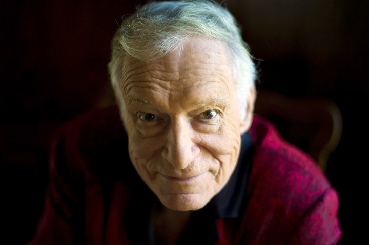 FILE - This Oct. 13, 2011 file photo shows American magazine publisher, founder and Chief Creative Officer of Playboy Enterprises, Hugh Hefner at his home at the Playboy Mansion in Beverly Hills, Calif. Playboy magazine founder and sexual revolution symbol Hefner has died at age 91. The magazine released a statement saying Hefner died at his home of natural causes on Wednesday night, Sept. 27, 2017, surrounded by family. (AP Photo/Kristian Dowling, File)