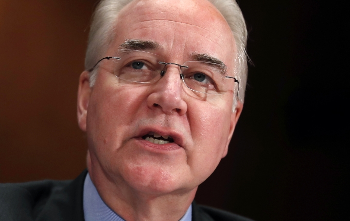 FILE - In this June 15, 2017, file photo, Health and Human Services Secretary Tom Price testifies on Capitol Hill in Washington. Price announced Friday, Sept. 29, 2017, he is resigning amid criticism of his travel on private planes. (AP Photo/Manuel Balce Ceneta, File)