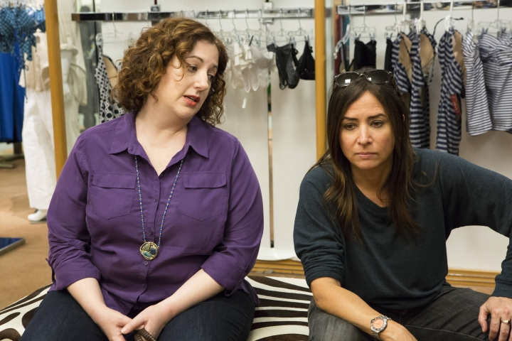 "This image released by FX shows Rebecca Metz, left, and Pamela Adlon in a scene from ""Better Things."" Aldon is not only the star of the semi-autobiographical series but she's also its co-creator, writer and director. (Jessica Brooks/FX via AP)"