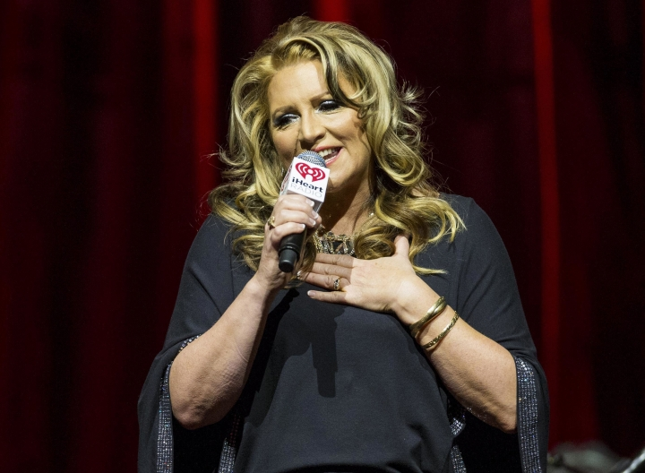 FILE - In this Feb. 21, 2015, file photo, on-air personality Delilah Rene hosts the iHeartRadio Ultimate Valentine's Escape at Brooklyn Bowl at the LINQ in Las Vegas. Rene announced on Facebook Saturday, Oct. 7, 2017, that her son took his own life on Oct. 3. (Photo by Andrew Estey/Invision/AP, File)