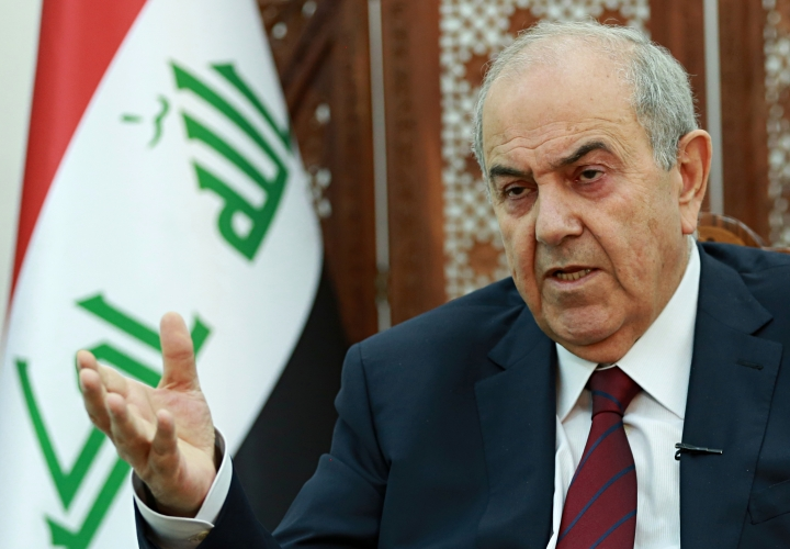 "Iraqi Vice President Ayad Allawi speaks during an interview with The Associated Press in Baghdad, Iraq, Monday, Oct. 9, 2017. Allawi says there could be a ""violent conflict"" over the Kurdish-administered city of Kirkuk if talks over Kurdish independence are left unresolved. (AP Photo/Hadi Mizban)"