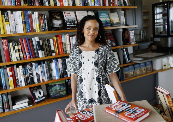"In this Sept. 19, 2017 photo provided by the John D. and Catherine T. MacArthur Foundation, African-American author Jesmyn Ward, poses for a photo in Pass Christian, Miss. The John D. and Catherine T. MacArthur Foundation announced Wednesday, Oct. 11, 2017, that Ward was one of 24 fellows to receive a ""genius grant"" from the Chicago-based foundation. (John D. and Catherine T. MacArthur Foundation via AP)"