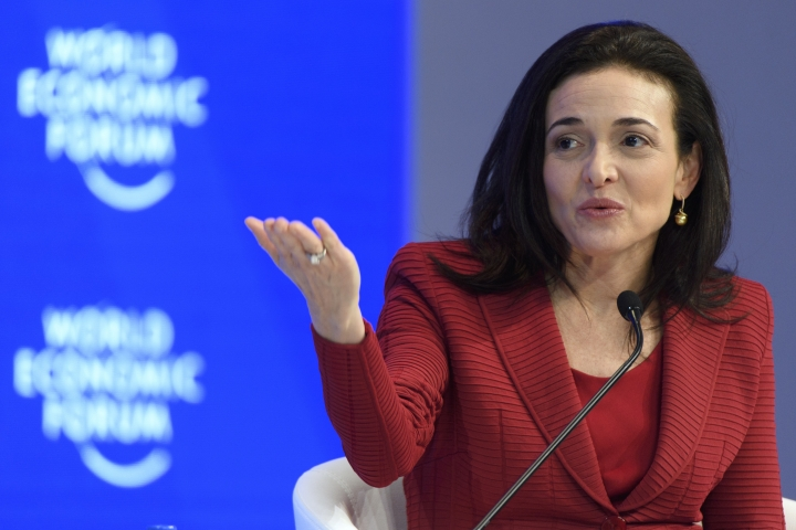 "FILE - In this Wednesday, Jan. 18, 2017, file photo, Facebook Chief Operating Officer Sheryl Sandberg speaks during a plenary session during the annual meeting of the World Economic Forum in Davos, Switzerland. Sandberg says the ads linked to Russia trying to influence the U.S. presidential election should ""absolutely"" be released to the public. In an interview with Axios, Thursday, Oct. 12, 2017, Sandberg also said the company has the responsibility to prevent the kind of abuse that occurred on its platform during the election. (Laurent Gillieron/Keystone via AP, File)"