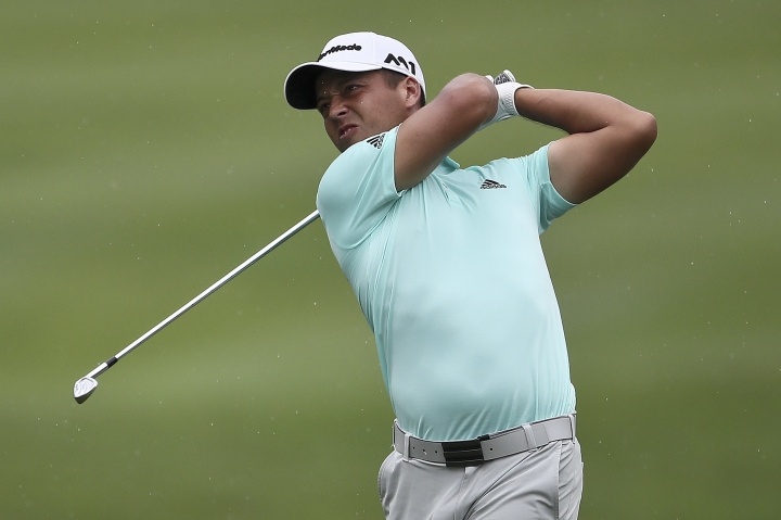 Xander Schauffele of United States in action during the second day of the CIMB Classic golf tournament at Tournament Players Club (TPC) in Kuala Lumpur, Malaysia, Friday, Oct. 13, 2017. (AP Photo/Sadiq Asyraf)