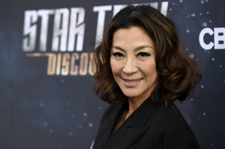 "FILE - In this Sept. 19, 2017 file photo, Michelle Yeoh, a cast member in ""Star Trek: Discovery,"" poses at the premiere of the new television series, in Los Angeles. The Malaysian film star commented Tuesday, Oct. 17, 2017 in a statement to The Associated Press on the sexual harassment scandal surrounding Harvey Weinstein. (Photo by Chris Pizzello/Invision/AP, File)"