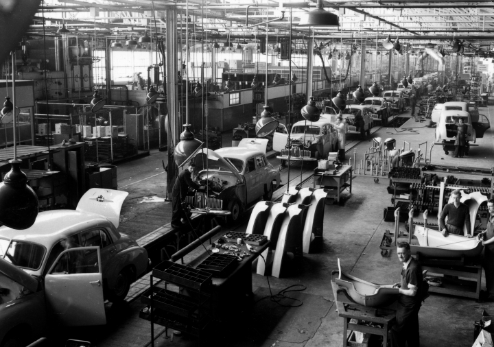 In this undated photo provided by General Motors Holden, cars are assembled on a production line in Adelaide, Australia. The Australian auto manufacturing era ends after more than 90 years on Friday, Oct. 20, 2017 when General Motors Co.'s last Holden sedan rolls off the production line in the industrial city of Adelaide. The nation has already begun mourning the demise of a home-grown industry in an increasing crowded and changing global car market. (General Motors Holden via AP)