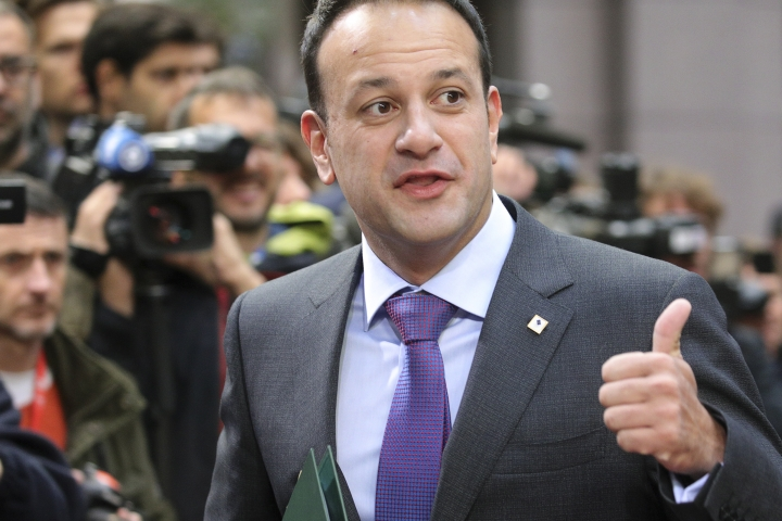 Irish Prime Minister Leo Varadkar arrives for an EU summit in Brussels on Friday, Oct. 20, 2017. European Union leaders conclude a two day summit on Friday in which they discussed migration, digital economy and Brexit. (AP Photo/Olivier Matthys)