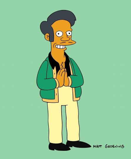 "This image released by Fox shows the Apu from the animated series ""The Simpsons."" The character is the subject of a documentary called ""The Problem With Apu,"" airing on truTV on Nov. 19. (Fox via AP)"
