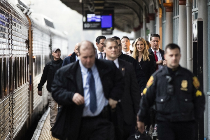 White House adviser Ivanka Trump arrives in Trenton, N.J., Monday, Nov. 13, 2017. Ivanka Trump is putting it all on the line for the Republican tax overhaul. Signaling a new stage in her Washington career, the senior White House adviser recently hit the road to sell the plans that have drawn Democratic criticism and spurred some GOP conflict.(AP Photo/Matt Rourke)