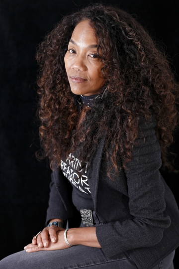 "In this Nov. 14, 2017 photo, Sonja Sohn poses for a portrait in New York to promote her documentary, ""Baltimore Rising."" (Photo by Brian Ach/Invision/AP)"
