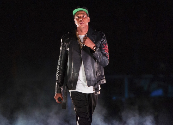 FILE - In this Nov. 26, 2017 file photo, Jay-Z performs on the 4:44 Tour at Barclays Center in New York. The rapper was nominated for eight Grammy nominations on Tuesday, Nov. 28. The 60th Annual Grammy Awards will air on CBS, Sunday, Jan. 28, 2018 in New York. (Photo by Scott Roth/Invision/AP, File)