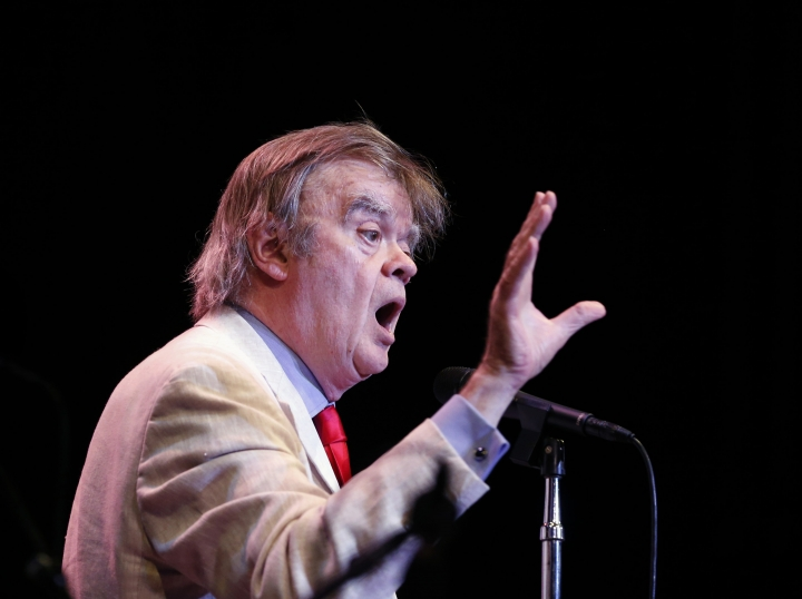 "In this May 21, 2016 photo, Garrison Keillor appears during a live broadcast for ""A Prairie Home Companion"" at the State Theatre in Minneapolis. Keillor said Wednesday, Nov. 29, 2017, he has been fired by Minnesota Public Radio over allegations of improper behavior. (Leila Navidi/Star Tribune via AP)"